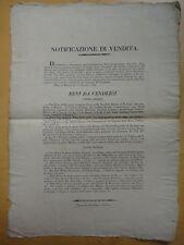 1824-NOTIFICAZIONE DI VENDITA-BOLOGNA-CASE E TERRENI