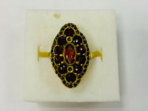 Ring, Gold 333, With Garnet Stone, 4,5g Ring Size 51 (50102)