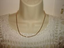 """Vintage Nice 20"""" L 14k Solid Yellow Gold Balestra Chain Necklace Heavy 7.2grams"""