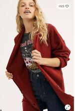 People Eucalyptus Oversized Cardigan Red Size XS OB991257