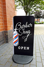 BARBER SHOP PAVEMENT SIGN - EcoFlex 2 SHOP DISPLAY Barbers Sign