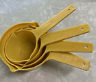 4Pc Vintage Lustro Ware Harvest Gold Measuring Cups 1/2, 1/3, 1/4 & 1 Cup HTF