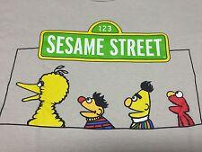 Sesame Street Tan Large T-Shirt Big Bird Bert Ernie Elmo Henson Muppets Puppet