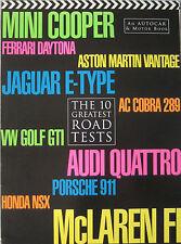 Autocar & Motor The 10 Greatest road tests featuring Ferrari, Mini, McLaren, AC