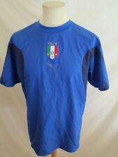 maillot de football vintage équipe d'Italie Puma Bleu Taille L