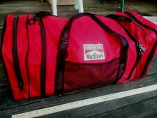 Vintage 1990s MARLBORO ADVENTURE TEAM DUFFEL GYM BAG LUGGAGE Black Red Large BAG