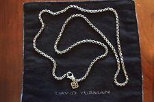 "20"" DAVID YURMAN STERLING SILVER 14K GOLD BOX CHAIN NECKLACE"