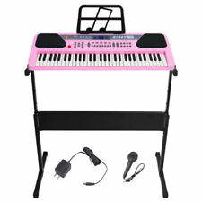 61 Key Music Electronic Keyboard Electric Digital Piano Organ w/ Stand Optional