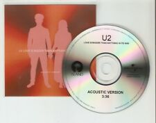 U2 'LOVE IS BIGGER THAN ANYTHING IN ITS WAY' ACOUSTIC MIX - BRAZILIAN CD PROMO