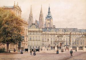 R.Moser - Vintage Cityscape HUGE A1 size 59.4x84cm QUALITY Canvas Print Unframed