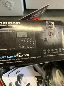 GRUNDIG G6 Aviator AM/FM Shortwave Portable Radio w/ SSB Buzz Aldrin Edition