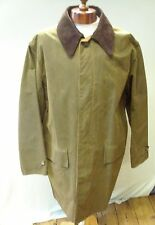 Barbour Original Mens Waxed 3/4 Coat In Green/ Brown Size XL