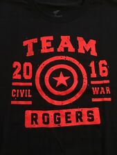 New Teefury Captain America Marvel Avengers Civil War Men's Large Shirt