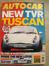Autocar 27/10/1999  TVR Tuscan  Porsche Boxter  Golf V5  Audi A6