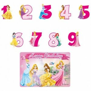 Disney Princess Birthday Candle Numbers Candle Children Birthday Party Princess