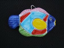 LA MUSA HAND PAINTED SET OF TWO PERMANENT WATER COLORED STYLE FISH NWOT