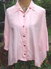 Vintage Express Campagnie Internationale Women's Silk Blouse Pink Sz S/1