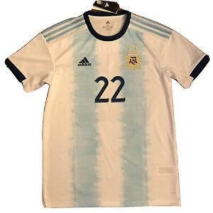 2019/20 Argentina Home Jersey #22 Lautaro Martinez Medium ADIDAS CopaAmerica NEW