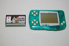 Wonderswan Clear Crystal Green console system + 1 game( japan Bandai )