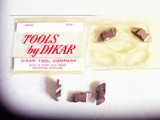New 5 Pcs - NG3098R  Grade K45 Top Notch Grooving Inserts Dikar Tool Co.