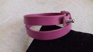 Armband für Schiebeperlen echt Leder 10mm Handarbeit fuchsie