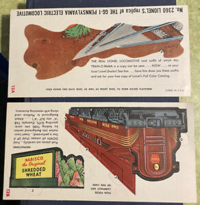 VTG 1956 Lionel Nabisco Train-O-Rama 12A-B Punch Out Model, Original, Unpunched