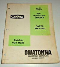 Mustang 330 Skid Steer Loader Parts Manual Catalog Book 972 Original Owatonna