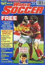 BENFICA / GRAHAM TAYLOR / RED STAR BELGRADE / FLUMINENSEWorld Soccer Apr1992