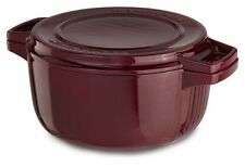 KitchenAid Cast Iron Professional Cookware KCPI40CRRR Royal Red 4-Qt Casserole
