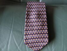 Aquascutum Blue Silk Tie - Made in USA