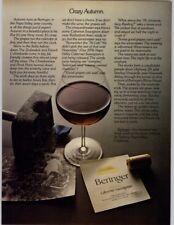 Beringer Cabernet Sauvignon Napa Valley 1979 Print Ad