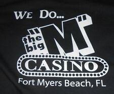 """Jerzees Black T-Shirt """"Got Craps?""""- Fort Myers FL Casino - Excellent Condition"""