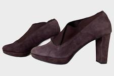 CLARKS NARRATIVE Ladies Womens Shoes Size UK 5.5D EU 39 Purple Suede Shoe Boots