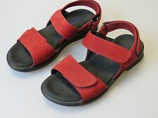 WOLKY Red Leather Sandals Shoes Women's EU Size 36 US 5.5