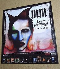 Marilyn Manson 2004 Promo Poster MM Lest We Forget The Best Of