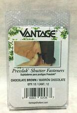 VANTAGE PRESSLOK SHUTTER FASTENERS CHOCOLATE BROWN - PACKAGE OF 12