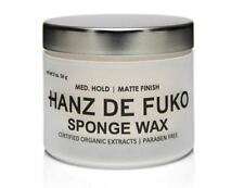 Hanz De Fuko Sponge Wax Medium Hold Semi Matte Finish Mens Hair 2oz. 60 ml.