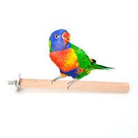 Pet Bird Parrot Chew Wooden Toy Hanging Swing Cages Rope Bell Cockatiel Parakeet