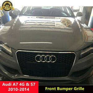 A7 Front Grille Mesh Grill for Audi A7 4G Sline S7 2010-2014 To RS7 Chrome Frame
