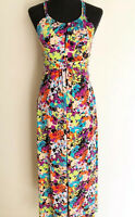 Nanette Lepore NYC US 4 / AU 8 Multicolour Floral Stretchy Fitted Maxi Dress