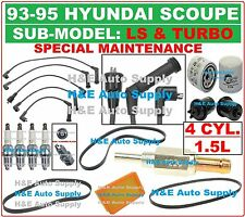 93-95 SCOUPE (LS & TURBO) 1.5L TUNE UP KITS: SPARK PLUGS WIRE SET BELT & FILTERS