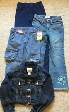 Girls Cherokee Oshkosh Circo Cropped Denim Jacket And Denim Pants Size 6/6X Lot