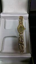Ladies Vintage Watch Bulova Swiss Quartz 14k Solid Gold Including Bracelet Mint