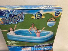 "New listing 🔥 Bestway H2Ogo Blue Rectangular Family Inflatable Pool 54006E 8'7"" x 69"" x 20"""