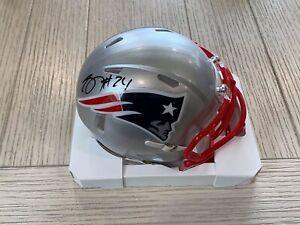 Stephon Gilmore autographed Speed mini helmet NFL New England Patriots PSA