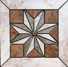 "11 3/4"" X 11 3/4"" Tile Medallion - Daltile's Heathland tile, floor or wall"