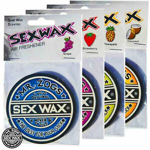 Mr Zogs Sex Wax Air Freshener. 4 Scents Available, Surf Van Car Beach Sup