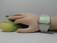 Alexis Bittar Moonstone Lucite Crystal Encrusted Liquid Hinge Bangle.****NEW****