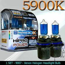9007 5900K SUPER WHITE 100/80W DUAL BEAM XENON HALOGEN HEADLIGHT BULBS -LOW/HIGH