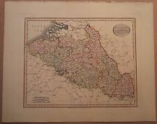 JOHN CARY MAP OF NETHERLANDS & PART GERMANY 1813 FROM HIS New Elementary Atlas